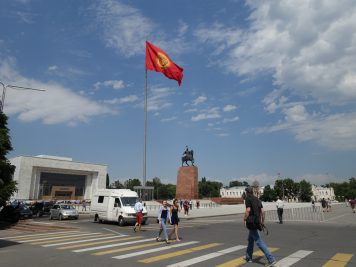 Bischkek Straßenszene