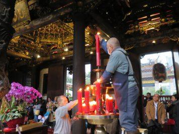 Tempel Kerzen Taipeh