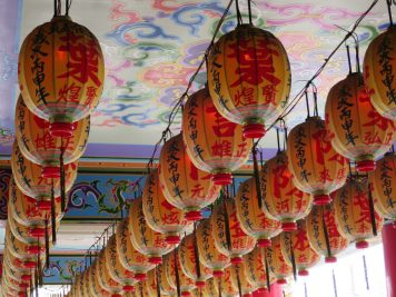 Tempel Lampions Chinese New Year