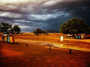 Namibia, Abendstimmung